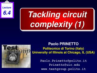 Tackling circuit complexity (1)