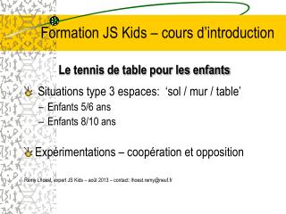 Formation JS Kids – cours d'introduction