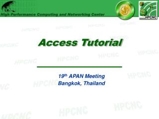 Access Tutorial