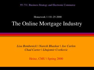 The Online Mortgage Industry