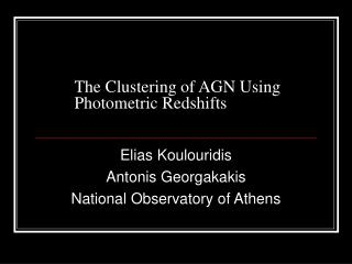 The Clustering of AGN Using Photometric Redshifts