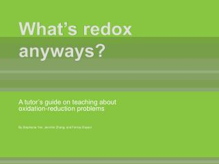 What's  redox  anyways?