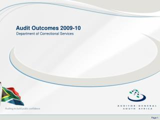 Audit Outcomes 2009-10