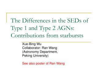 The Differences in the SEDs of Type 1 and Type 2 AGNs: Contributions from starbursts