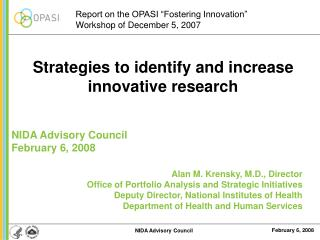 Strategies to identify and increase innovative research
