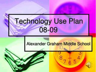 Technology Use Plan 08-09