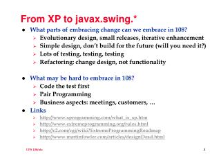 From XP to javax.swing.*