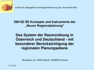 Institut f r Geographie und Regionalforschung der Universit t Wien