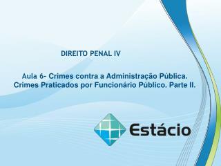 DIREITO PENAL IV