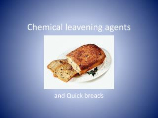 Chemical leavening agents