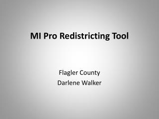 MI Pro Redistricting Tool