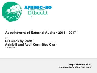 Appointment of External Auditor 2015 - 2017