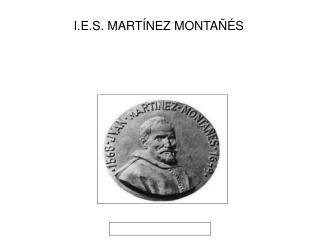 I.E.S. MARTÍNEZ MONTAÑÉS