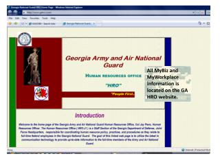 All MyBiz and MyWorkplace information is located on the GA HRO website.