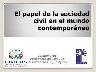 El papel de la sociedad civil en el mundo contemporáneo