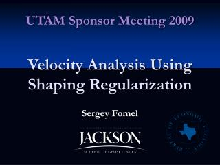 Velocity Analysis Using Shaping Regularization