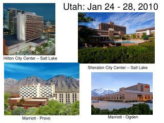 Utah: Jan 24 - 28, 2010