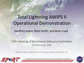 Total Lightning AWIPS II Operational Demonstration