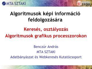 Algoritmusok képi információ feldolgozására