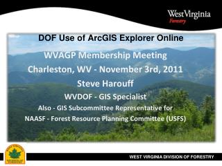 DOF Use of ArcGIS Explorer Online