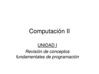 Computación II