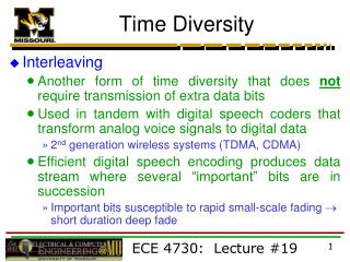 Time Diversity