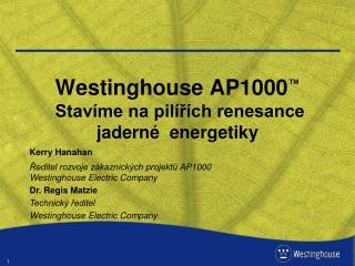 Westinghouse AP1000 ™ Stavíme na pilířích renesance jaderné  energetiky