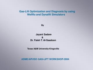 Gas-Lift Optimization and Diagnosis by using