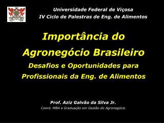 Prof. Aziz Galvão da Silva Jr. Coord. MBA e Graduação em Gestão do Agronegócio