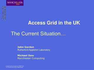 Access Grid in the UK