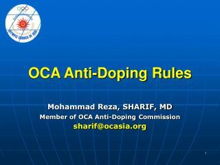 OCA Anti-Doping Rules
