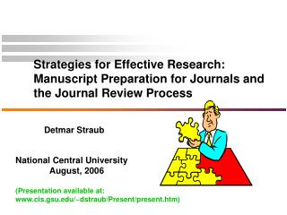 Strategies for Effective Research: