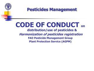 Pesticides Management
