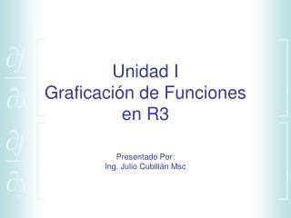Unidad I Graficaci n de Funciones en R3