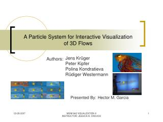 A Particle System for Interactive Visualization of 3D Flows