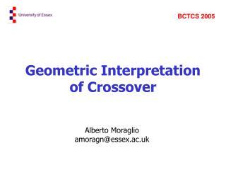 Geometric Interpretation of Crossover