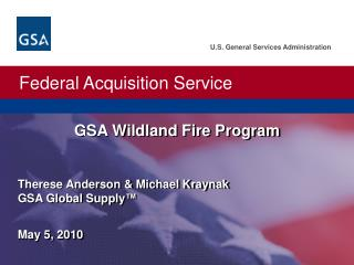 GSA Wildland Fire Program