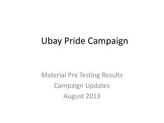 Ubay  Pride Campaign