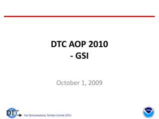 DTC AOP 2010 - GSI