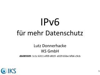 IPv6 für mehr Datenschutz