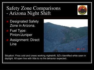 Safety Zone Comparisons - Arizona Night Shift