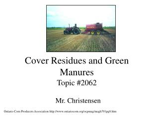 Cover Residues and Green Manures Topic #2062