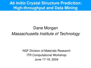 Ab Initio  Crystal Structure Prediction: High-throughput and Data Mining