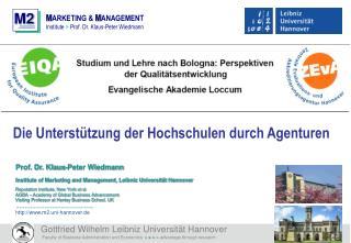 Die Unterstützung der Hochschulen durch Agenturen