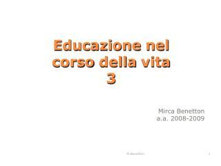 Educazione nel corso della vita  3