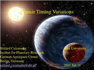 Transit Timing Variations