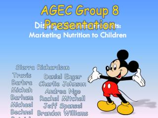 Disney  Consumer Products: Marketing Nutrition to Children