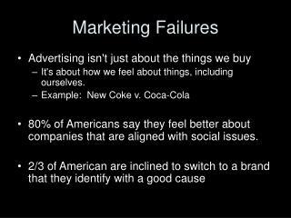 Marketing Failures