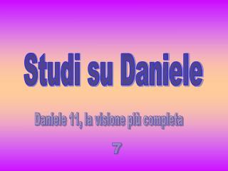 Studi su Daniele