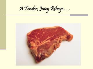 A Tender, Juicy Ribeye….